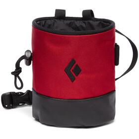Black Diamond Mojo Zip Chalk Bag S/M, rood/zwart